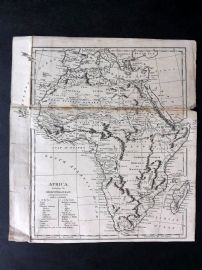 Africa C1800 Antique Map. Africa including the Mediterranean